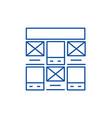 prototype web design line icon concept prototype vector image vector image