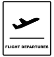 Realistic airport sign - departures vector image