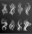realistic smoke white food steam hookah hot tea vector image vector image
