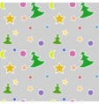 Seamless pattern Christmas vector image