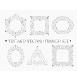 set elegant ornate floral design templates vector image
