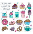 set of cute and fun ice cream vector image