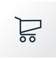 shopping outline symbol premium quality isolated vector image vector image