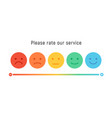 smiley rate scale emotion emoji icon feedback vector image vector image