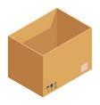 storage box icon isometric style vector image
