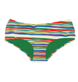 striped woman underwear vector image vector image