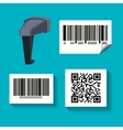 system bar code id product vector image vector image