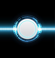 technology cyber abstract circle wave signal vector image
