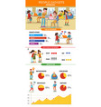 technology infographic concept vector image vector image