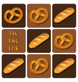 Tic-Tac-Toe of bread and pretzel vector image