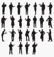 waiter silhouettes vector image