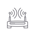 wireless internet line icon concept wireless vector image vector image