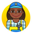 woman plumber vector image