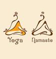Yoga Logo 2 vector image