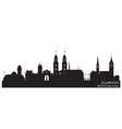Zurich Switzerland skyline Detailed silhouette vector image vector image