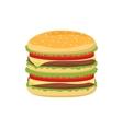 Dinner buns burger icon vector image