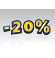 20 percent reduced vector | Price: 1 Credit (USD $1)