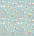 Abstract hand drawn butterfly seamless pattern
