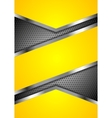 Abstract yellow perforated background with vector image vector image