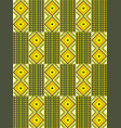 african kente cloth ethnic fabric seamless vector image vector image