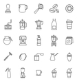 Barista line icon on white background vector image vector image
