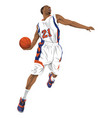 basketball player going for a slam dunk vector image