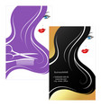 beautiful girl business card for beauty salon vector image vector image