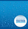 blue drops background with place for text vector image vector image