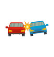 boom car icon flat style vector image vector image