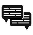 chat request icon simple style vector image vector image