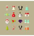 Christmas Flat Icons Set 2 vector image