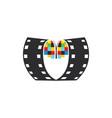 cinema logo movies logo vector image