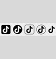 collection black tik tok icons vector image