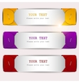 Colorful bookmarks set vector image vector image