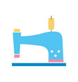 colorful sewing machine fashion industry equipment vector image