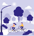 couple in park avatar character vector image