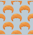 croissant seamless pattern vector image