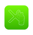 cross painted with a balloon icon green vector image vector image