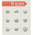 crown icons set vector image