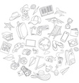 Doodle icons travel set vector image vector image