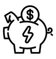 economy save piggy bank icon outline style vector image