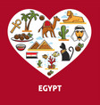 egypt symbols egyptian architecture cuisine and vector image vector image