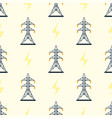 electric pole seamless pattern vector image
