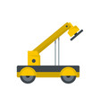 engineering crane icon flat style vector image vector image
