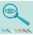 Flat design detective vector image