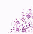 floral background in violet vector image vector image