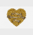 golden shiny tinsel heart background vector image
