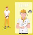 golf club concept cartoon vector image