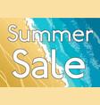 horizontal sea coast landscape lettering summer vector image vector image