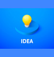 Idea isometric icon isolated on color background